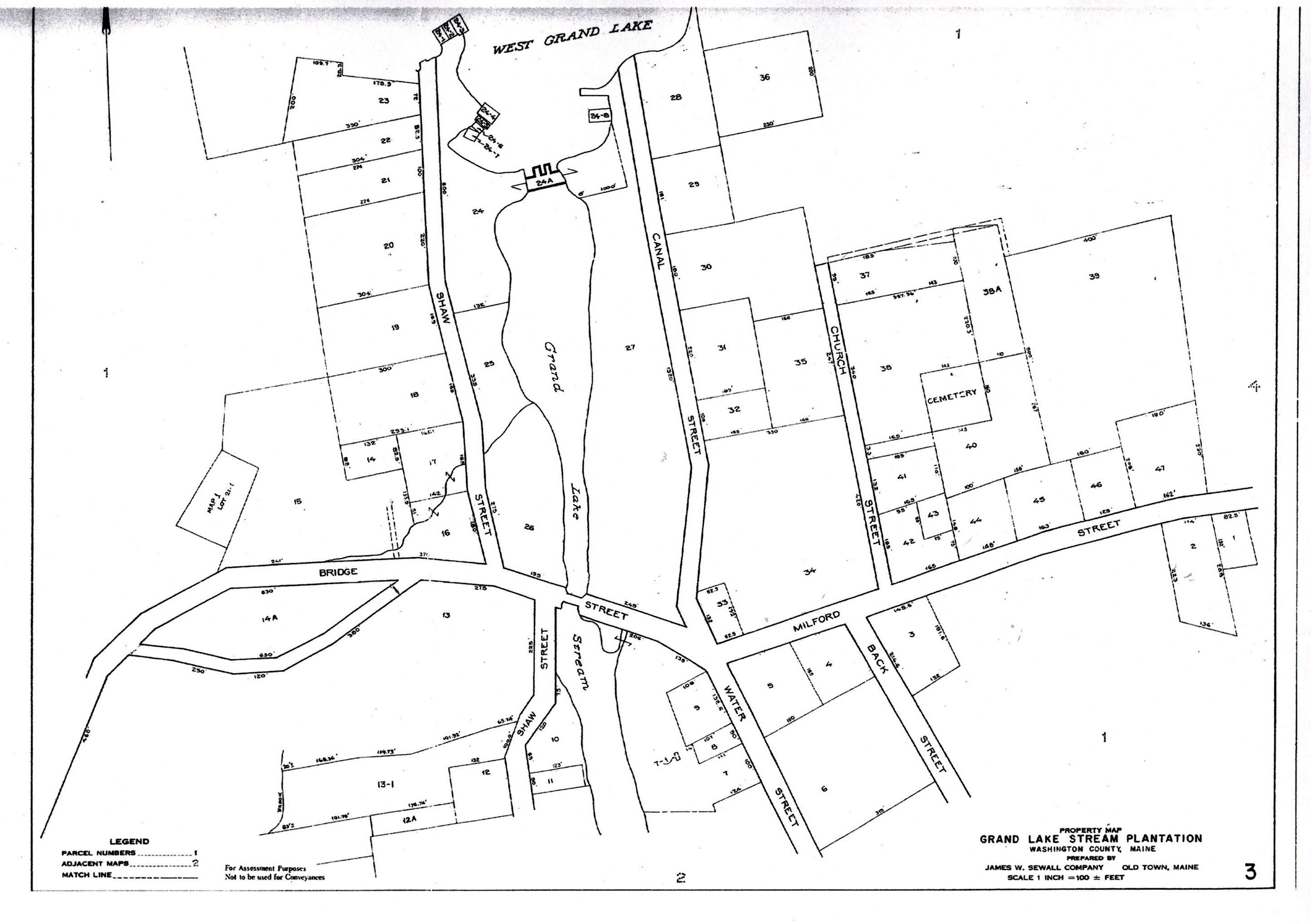 Grand Lake Stream Maine Map.Map 3 Grand Lake Stream Maine