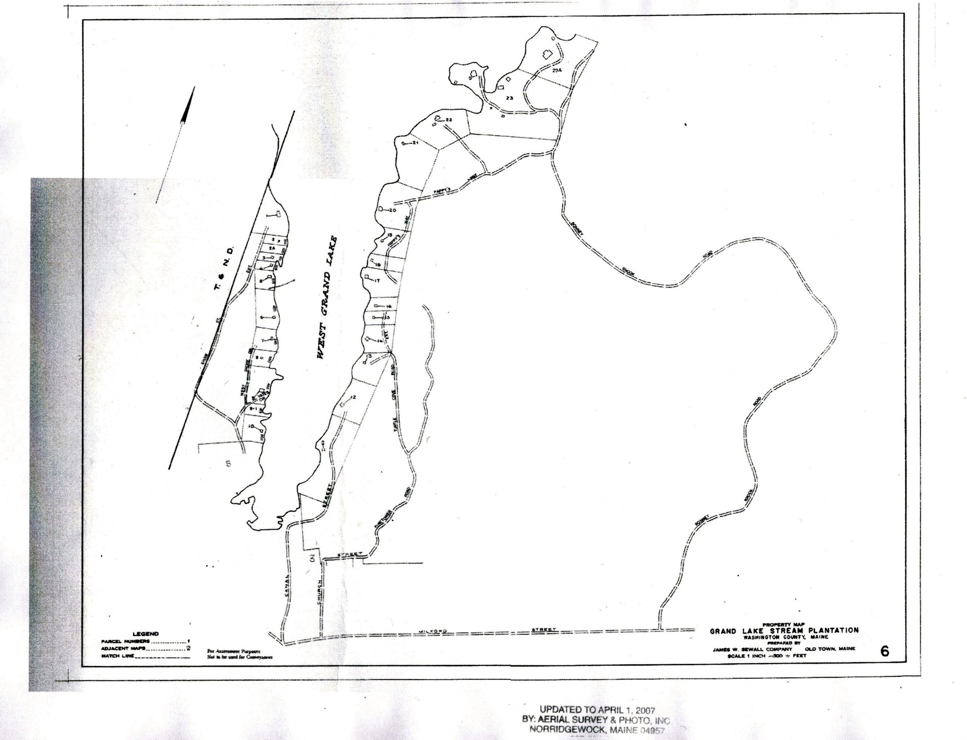 Grand Lake Stream Maine Map.Map 6 Grand Lake Stream Maine