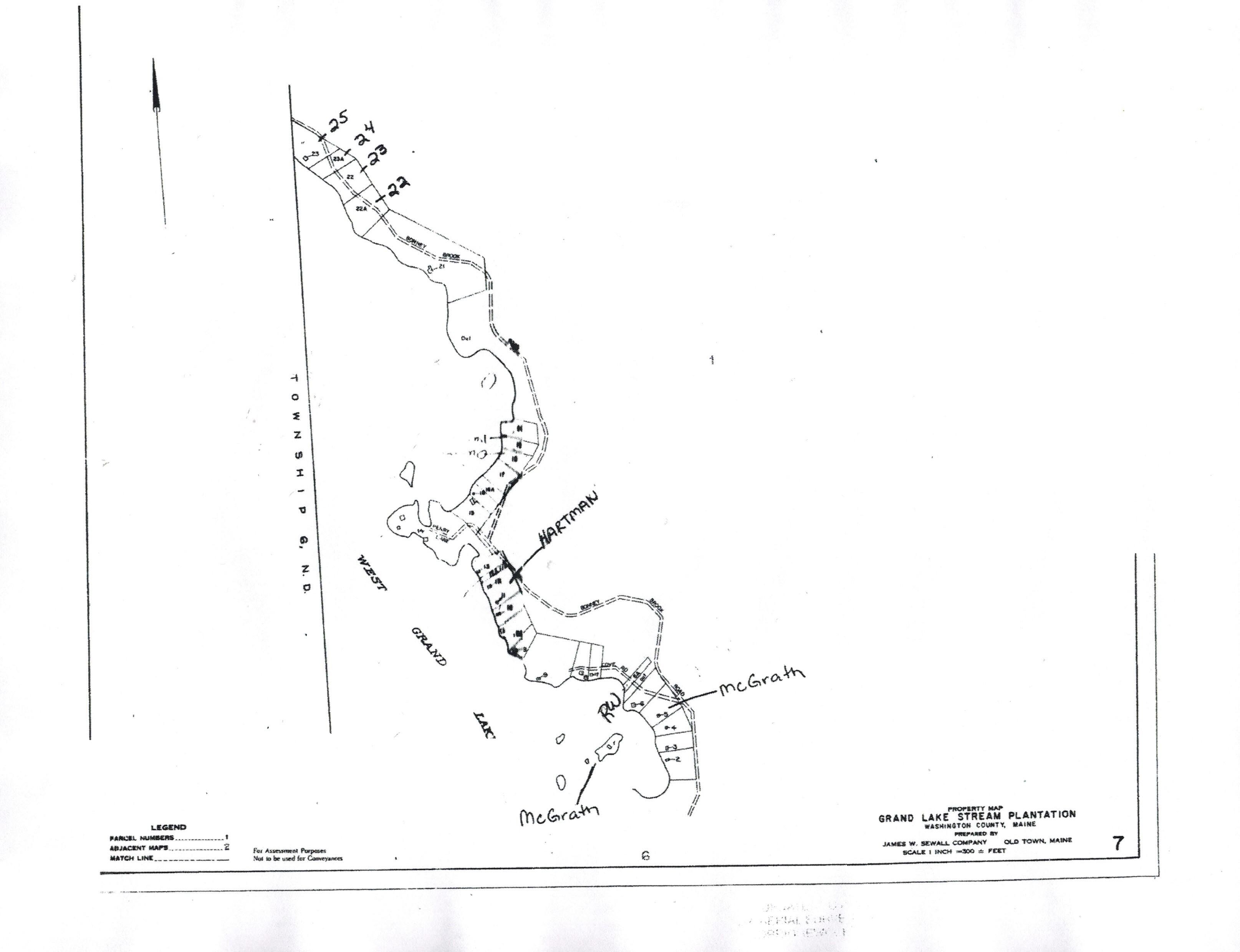 Grand Lake Stream Maine Map.Tax Maps Grand Lake Stream Maine